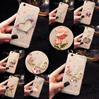 For Samsung Bling Crystals Handmade TPU Soft Transparent Back Case Cover #2