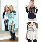 Women lady Long Sleeve Shirt Casual Lace Blouse Loose Cotton Tops T Shirt Tee
