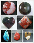 52mm,50mm,44x59mm,32x65mm Beautiful Natural Gemstone Pendant Bead 1pcs PS031