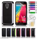 32nd Dual Layer Shockproof Case Cover For Motorola Moto G2 + Screen Protector