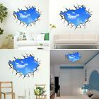 3D DIY Blue Sky Clouds Wall Stickers Removable Wall Decals Art Poster Home Decor