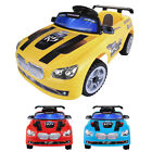 Kids Ride on Car 6V Battery Powered Electric Toy Remote Control Lights MP3 Opt