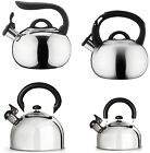 Grunwerg Cafe Ole All Hob Stove Top Whistling Stainless Steel Kettle