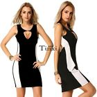 Womens Bandage Bodycon Evening Sexy Party Cocktail Pencil Mini Dress S-XXL TXWD