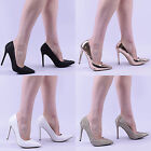 womens stiletto court shoe party occasion pointed ladies high heel shoes size