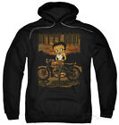 Hoodie: Betty Boop - Rebel Rider Apparel Pullover Hoodie - Black $42.99 USD