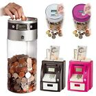 Digital Coin Counter LCD Display Jumbo Jar Sorter Money Box Counts Coins