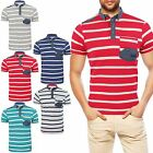 NEW MENS SMITH & JONES CASUAL CROFTEN POLO T-SHIRT SHORT SLEEVED STRIPE TEE TOP