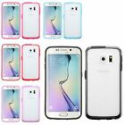 For Samsung Galaxy S6 Edge TPU Gel Transparent Candy Frame Phone Skin Case Cover