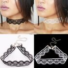 Vintage Lace Heart Crochet Choker Necklace Collar Retro Gothic Charm Jewelry ES9