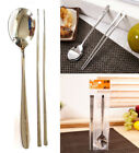 Stainless Steel Spoon and Chopsticks Set/ Turtle, Flower patten tableware/ Korea