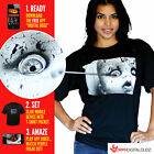 Digital Dudz Mens Womens T Shirt Animated Mobile App Funny Scary Halloween Top