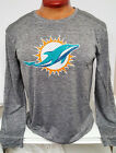 MIAMI DOLPHINS MENS DRI FIT LONG SLEEVE TEAM NFL SHIRT NEW PICK SIZE