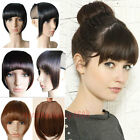 Fashion Clip In Clip on Front Hair Bang Fringe Hair Extensions Black Brown USA