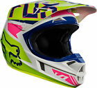 2017 FOX RACING NAVY WHITE V1 FALCON RACE MX MOTOCROSS HELMET YOUTH KIDS MOTO X