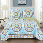 Luxury Reversible Nyah Oversized Coverlet Geometric Set Microfiber Wrinkle Free image