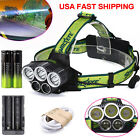 Tactical 50000LM 5X XML T6 LED Rechargeable Headlamp 18650+Headlight+Charger USA