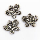 8/20/60Pcs Znic Alloy Butterfly Charms Pendants For DIY Making 21x25mm