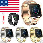 Stainless Steel Band Metal Frame for Fitbit Blaze Smart Fitness Tracker US STOCK