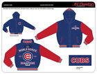 "Chicago Cubs 2016 World Series Champion Jackets Reversible Royal Red ""FREE"" S&H"