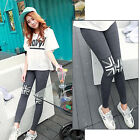 New Womens Stretchy Thick Leggings Pants Skinny Slim Trousers Soft Cotton Pants