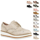 Damen Halbschuhe Dandy Style Brogues Profilsohle High Fashion 814417 New Look