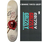 """PLAN B Skateboard Deck CHRIS COLE WAX SEAL 8.0"""" with GRIZZLY GRIPTAPE"""