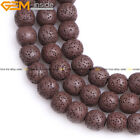 "Lava Rock Stone Loose Beads For Jewelry Making 15"" Wholesale Jewelry Beads"