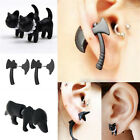 New 3D Stereoscopic Black Animal Impalement Men and Women Ear Stud Earring LACA