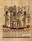 """Egyptian Papyrus Painting - Princess on Boat 8X12"""" + Hand Painted #55"""