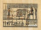 "Egyptian Papyrus Painting - Queen Nefertary 8X12"" + Hand Painted #83"