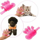 Cat Dog Pet Cleaning Massage Grooming Glove PAD Bath Brush RUBBER Comb ( PINK )