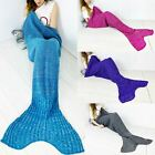 Mermaid Sofa Crocheted Fishernet Chunky Knitted Bed Sofa Lapghan Tail Blanket