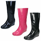 WHOLESALE Ladies Wedge Heel Wellington Boots / Size 3x8 / 12 Pairs / X1046