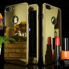 Gold Case for iPhone 6 6S 7 Plus + Real 9H Tempered Glass Screen Protector