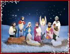COMPLETE HOLY FAMILY NATIVITY SCENE WITH LIGHTS CHRISTMAS YARD DISPLAY SALE !!