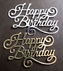4 x Large 'HAPPY BIRTHDAY' 10.5cm x 7cm  Paper Card Die Cut Outs Embellishments
