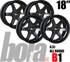 "18"" BOLA B1 BLACK 5 STUD 8.5J SET OF 4 NEW ALLOY WHEELS FOR Honda CRV 12-ON"