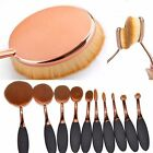 10 Pcs Professional Make Up Brushes Set Foundation Toothbrush Oval Cosmetic TFn