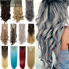 100% Real As Human Thick Hair Clip In Hair Extensions Full Head Black Brown SN11