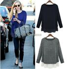 Korean Fashion Womens Chiffon Loose high low Casual Party shirts Tops Blouse K0E