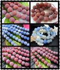 8mm、10mm、12MM  New Gemstone Scrub Agate Round Loose Beads