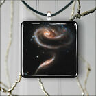 SPACE ROSE GALAXY PENDANT NECKLACE 3 SIZES CHOICE -jfr4Z