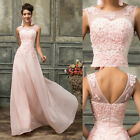 Applique Long Bridesmaid Prom Party Ball Gown Bridesmaid Lace Wedding Dresses