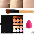 15 Colors Concealer Palette Kit + Brush Sponge Face Makeup Contour Cream Beauty@