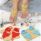 New Women Barefoot Sandals Hand-made Crochet Knitted Party Beach Anklets K0E1