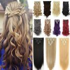 8 Pieces Full Head Clip in on Hair Extensions Extension 18 Clips for Human sn10