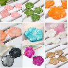 Nature Fresh Water Mother Of Pearl MOP Shell Carved Flower Loose Bead Craft 25mm