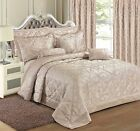 Jacquard Natural Bedding Duvet Cover Set Bedspread Curtains Single Double King