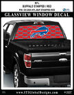 BUFFALO BILLS - STAMPED RED Window Wrap / Truck Car SUV Decal Sticker NFL